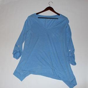 Calvin Klein Performance Blouse sz large L blue